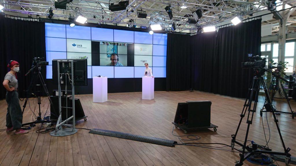 Einblicke ins Studio von ALEX Berlin während der Preisverleihung